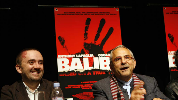 Balibo director Robert Connolly and East Timor President Jose Ramos-Horta launch the film in 2009.