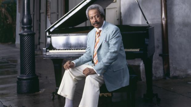 Allen Toussaint with his piano.