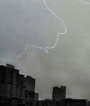 Melbourne received a drenching and was plunged into premature darkness yesterday afternoon as severe thunderstorms ...