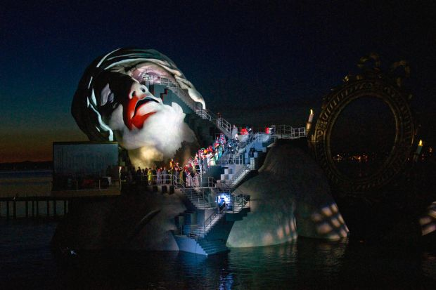 Umberto Giordano's opera Andre Chenier on the floating lake stage, part of the Bregenz Festival.