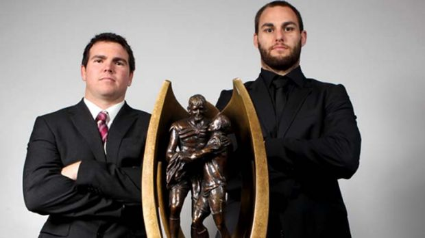 The captains ... Jamie Lyon, left, of the Sea Eagles and Simon Mannering of the Warriors. One of these men will be ...