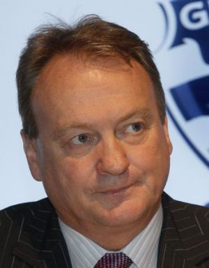 Happy to contribute: Geelong chief Brian Cook.