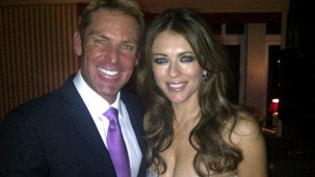 Wedding bells ... Warne posted a picture of the pair before he popped the question.