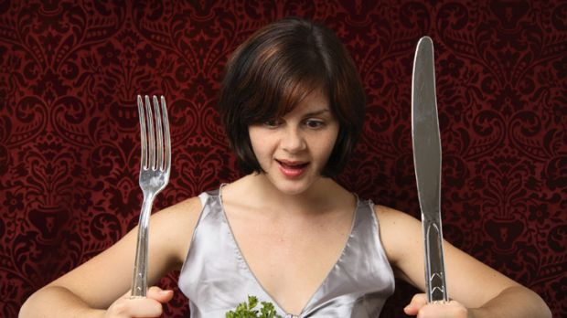 Woman can't live on meat alone ... should vegetables come for free at restaurants?