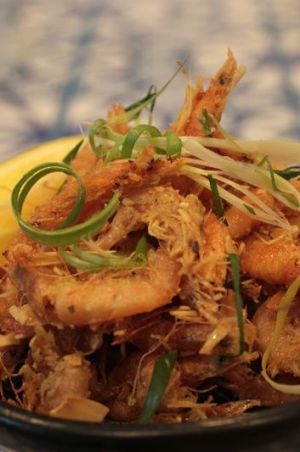 The one dish you must try ... fried school prawns in honey, fish sauce, sesame seed and flaked almond dressing, $9.
