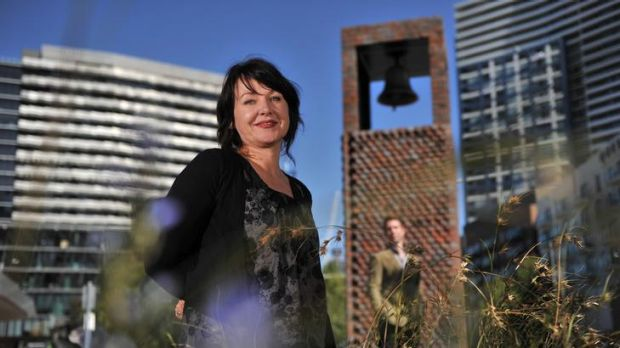 Part of an ambitious urban art initiative in the Docklands, Kate Daw's bell tower rings in the civil twilight zone - ...