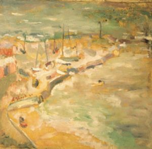 Arthur Boyd's painting of the beach in 1940.
