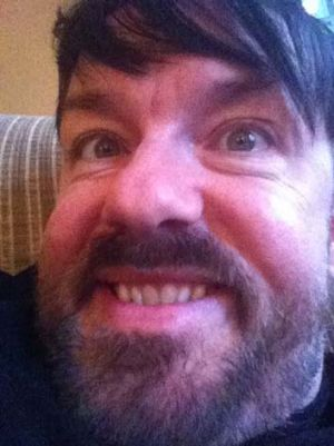 Another of Ricky Gervais's self-portraits.
