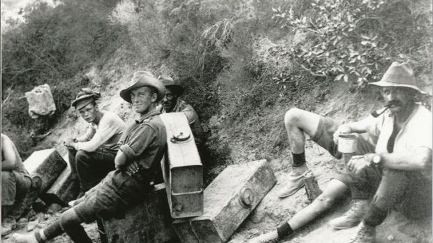 Anzac soldiers on a rest break at Gallipoli.