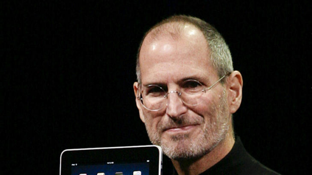 Steve Jobs unveils the iPad in January 2010.