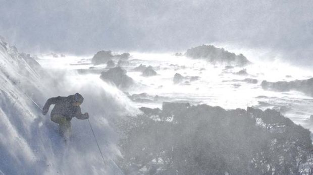 Grim picture ... a new report warns that Australian ski slopes could be bare of natural snow by 2050.