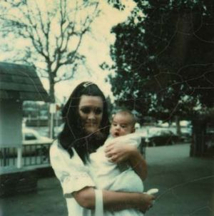 Like father, like son ... Christine Elliot (left, with Adam Brand as a baby) told Abe Saffron that their son would have ...