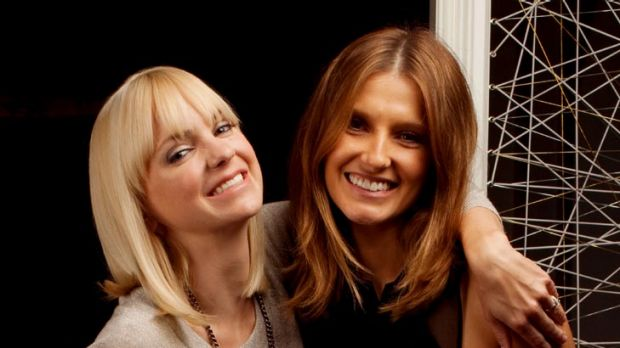 The numbers game ... Anna Faris with Kate Waterhouse