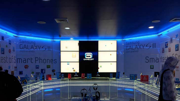 "Inside Samsung's ""pop up"" store."