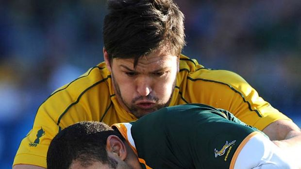 The memory of Marseille ... Adam Ashley-Cooper attacked the breakdown like a man possessed.