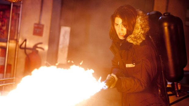 It's a Hollywood rule - aliens don't like chicks with flamethrowers: Mary Elizabeth Winstead plays Dr Lloyd, a nerdy ...