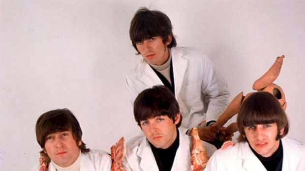 "Controversial ... the Beatles' ""butcher"" cover for <em>Yesterday and Today.</em>"