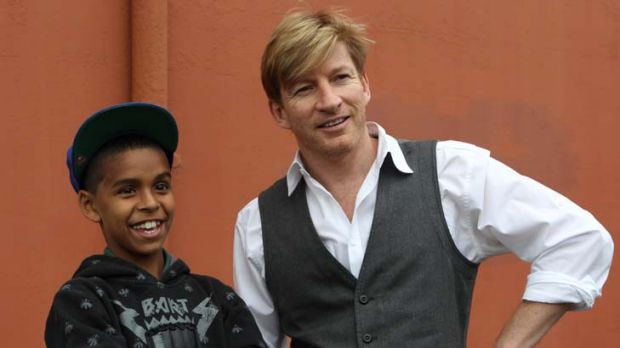 Co-stars … Daniel ''DJ'' Mundine and David Wenham.