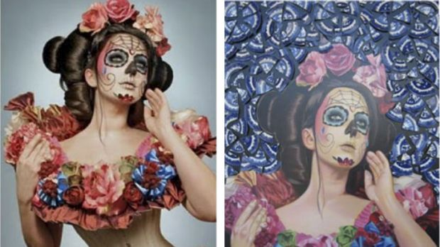 Eye of the beholder … photographer Gayla Partridge says people can look at her <em> Spring Muertos</em>, left, and ...