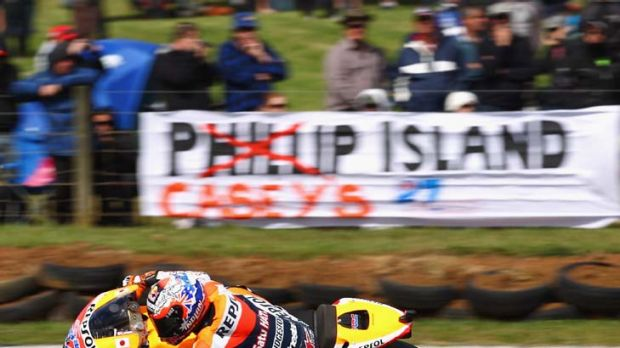 Birthday boy: Australian Casey Stoner won pole yesterday for the Australian Motorcycle Grand Prix at Phillip Island.