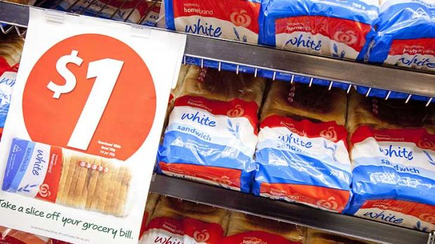 A buck for bread ... Woolworths' $1 loaf.