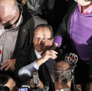 Francois Hollande, winner of the Socialist Party (PS) 2011 primary vote for France's 2012 presidential election.