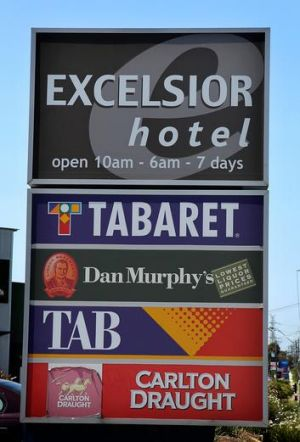 The Excelsior Hotel, Mahony's Road in Thomastown, one of many pokies venues Victorians are more willing to see reform in ...
