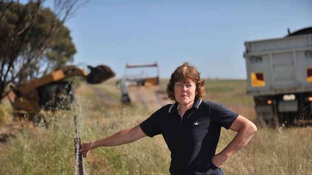 Don't cross the fence: Kate Tubbs insists the farming community of Parwan, on the southern fringe of Bacchus Marsh, will ...