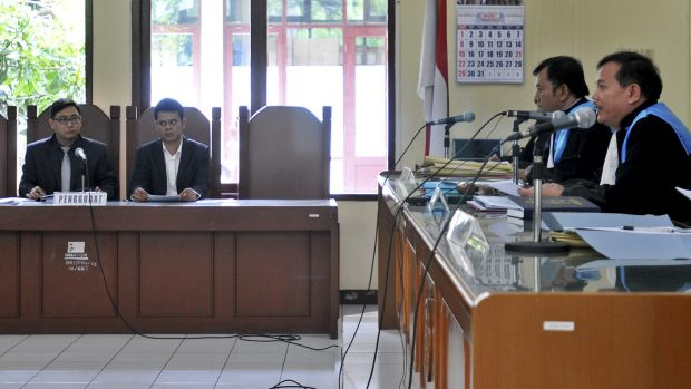 Lawyers for the Bali nine and the Indonesian government during an appeal in the State Administrative Court in Jakarta ...