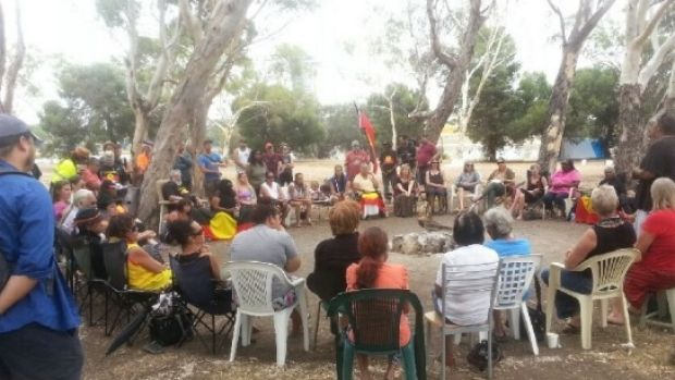 The closure of remote communities has been a focus of protests on Heirisson Island.
