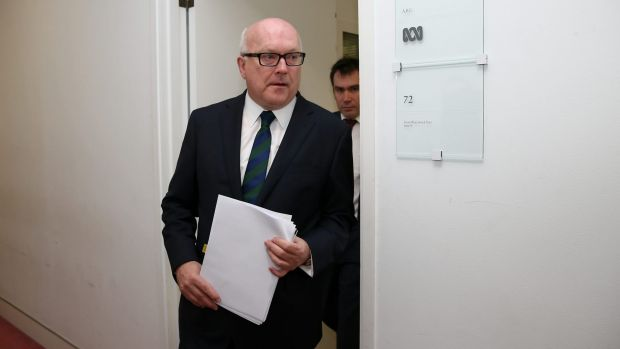 Attorney-General senator George Brandis at Parliament House in Canberra.