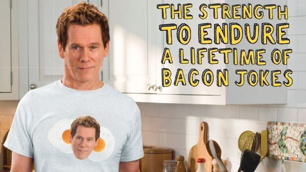Kevin Bacon is the new spokesperson for the American Egg Board.