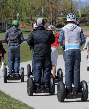 The ACT government will introduce regualtion in 2017 to allow people to ride their own Segways.