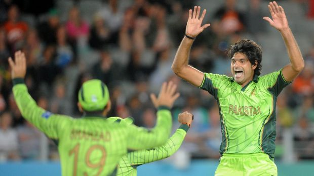 Mohammad Irfan (right) is out of the remainder of the World Cup.
