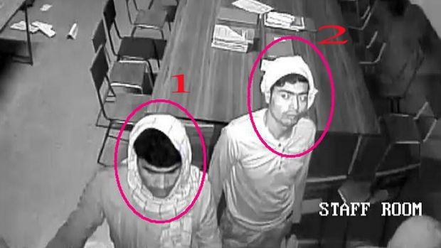 This closed circuit television image captured on Saturday at the Convent of Jesus and Mary in Ranaghat and released by ...