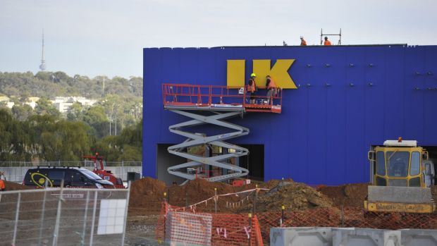 IKEA Canberra gets its letters.