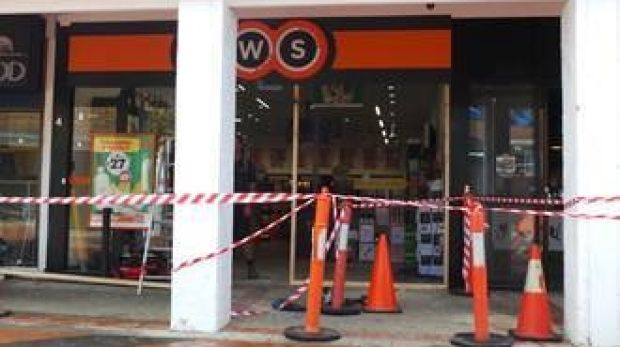 A BWS liquor in Charnwood that was ram-raided on Wednesday.