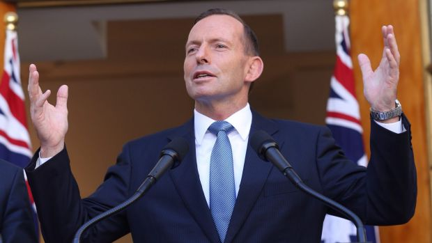 """Prime Minister Tony Abbott is now adopting a """"glass half-full"""" approach to the budget."""