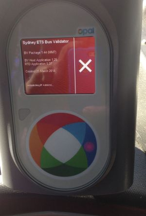 Bus drivers say Opal card readers are regularly malfunctioning.