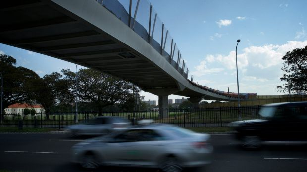 """The six-lane diversion will be built near the Albert """"Tibby"""" Cotter Walkway at Moore Park."""