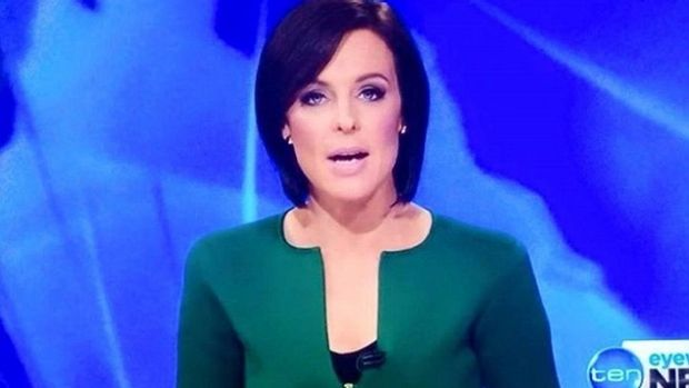 That escalated quickly: Ten's Natarsha Belling wearing the jacket over the weekend.