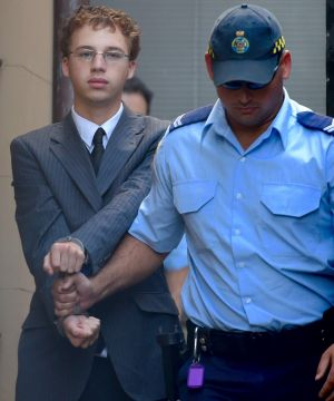 Daniel Kelsall arrives at the Supreme Court, Sydney, during his trial this week.