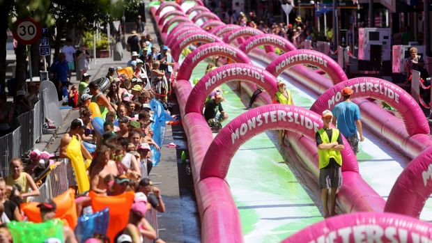 Tickets for a Brisbane Monster Slide event were being sold without council approval.