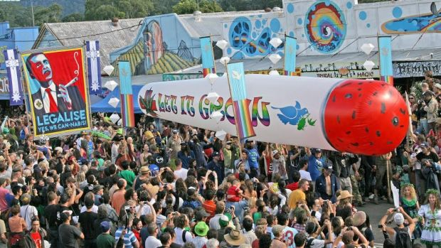 The campaign: The Big Joint in all its glory in Nimbin.