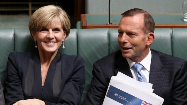 High-level discussions: Foreign Affairs Minister Julie Bishop and Prime Minister Tony Abbott.