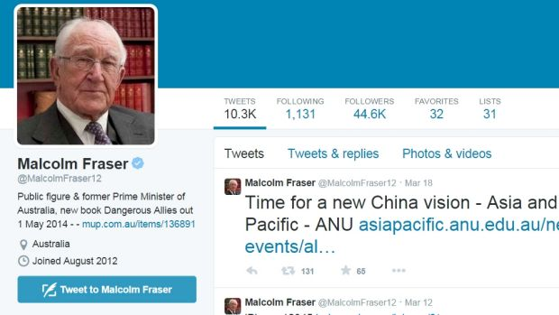 Malcolm Fraser's Twitter page @MalcolmFraser12.