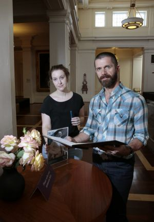 Museum of Australian Democracy community engagement coordinator Katie Wallis and public programs coordinator Steve ...