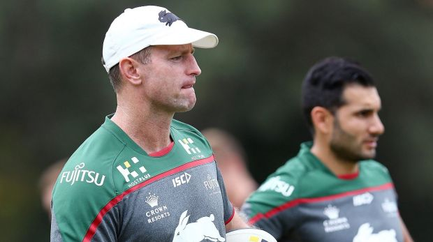 Happy with doctor: South Sydney coach Michael Maguire.
