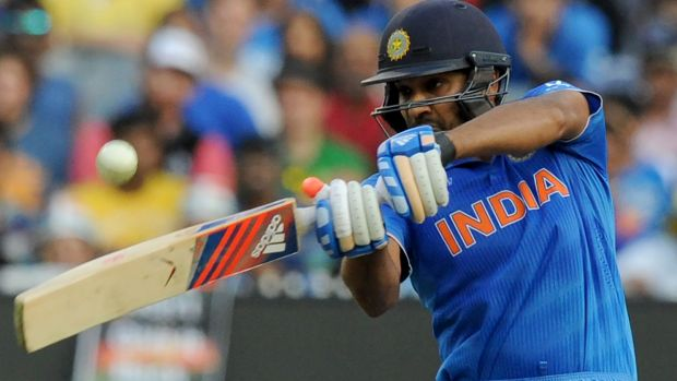 Let off: The umpires ruled in favour of Rohit Sharma of India
