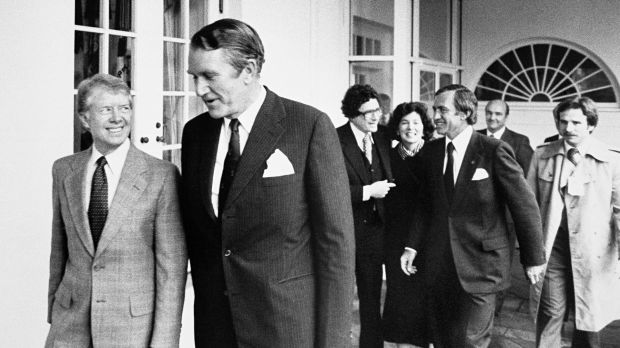 Mr Fraser met then US president Jimmy Carter in Washington in 1980, but was wary of kowtowing to American interests.